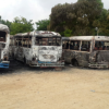 Líder sindical denuncia quema de 10 autobuses