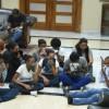 Rocían gas pimienta a jóvenes en Procuraduría General de la República