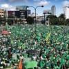 Cumplió con éxito marcha del millón contra la corrupción