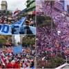 Miles de personas desfilaron en Costa Rica contra el plan fiscal