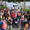 Migrantes hondureños llegan a frontera, sujetos a leyes mexicanas