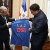 Presidente Medina recibió a pelotero Bartolo Colón