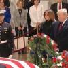 Presidente y exmandatarios de EEUU asisten a funeral de Bush padre