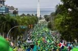 Marcha verde en vigilia frente a la Suprema Corte de Justicia