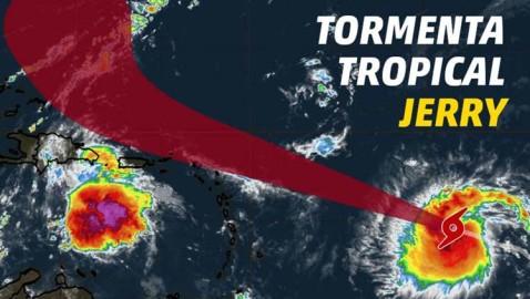 Tormenta tropical Jerry avanza y se fortalecerá
